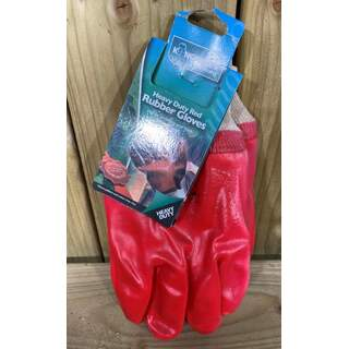 Heavy Duty Red Rubber Gloves