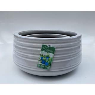 16cm Larsson Low Rounds - White