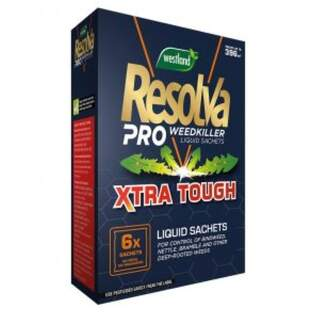 Resolva Pro Weedkiller Liquid Sachets Xtra Tough 6 x 100ml