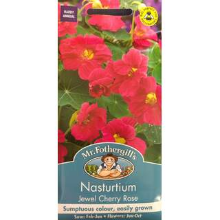 UK/FO-NASTURTIUM Jewel Cherry Rose